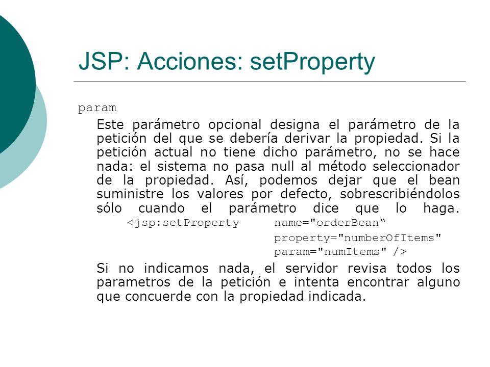 JSP: Acciones: setProperty