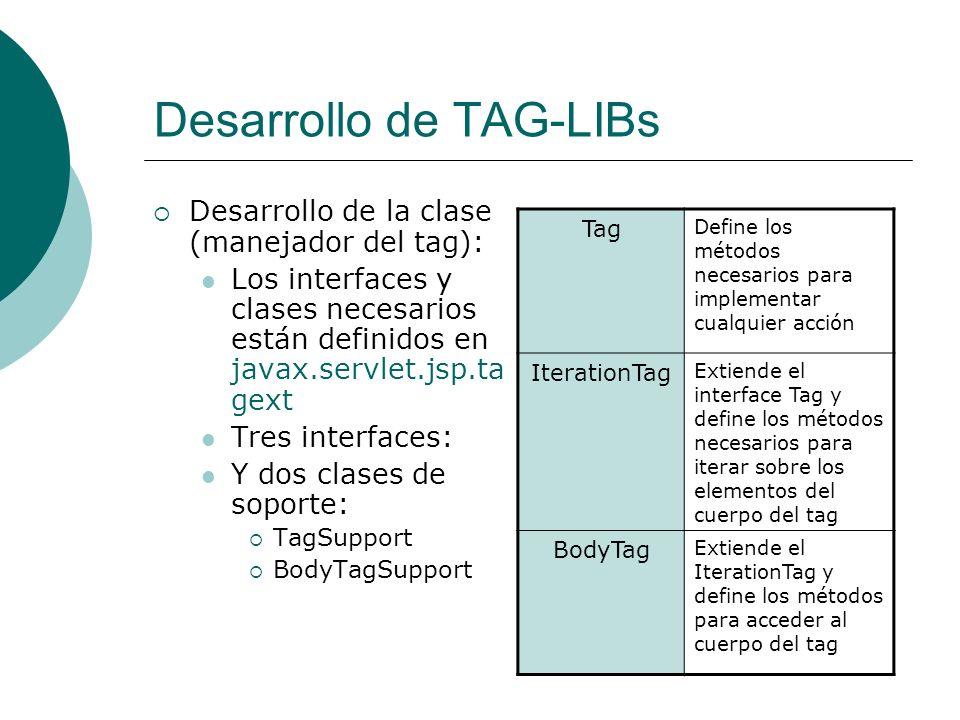 Desarrollo de TAG-LIBs
