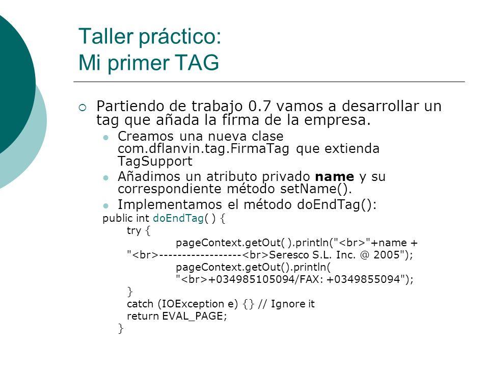 Taller práctico: Mi primer TAG