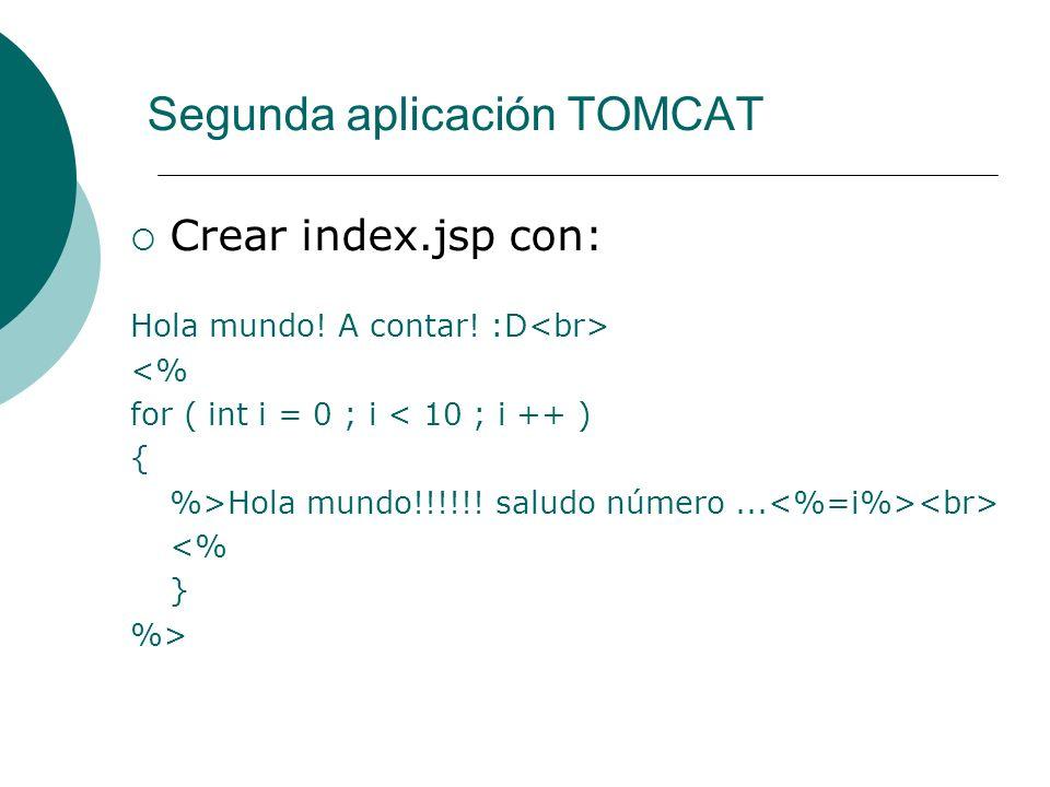 Segunda aplicación TOMCAT