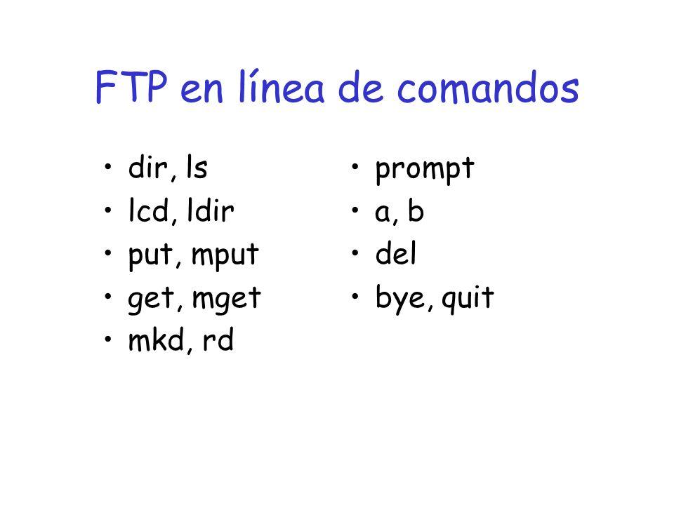 FTP en línea de comandos