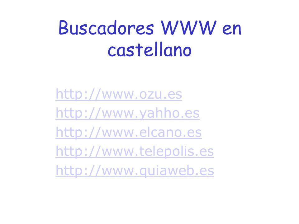 Buscadores WWW en castellano