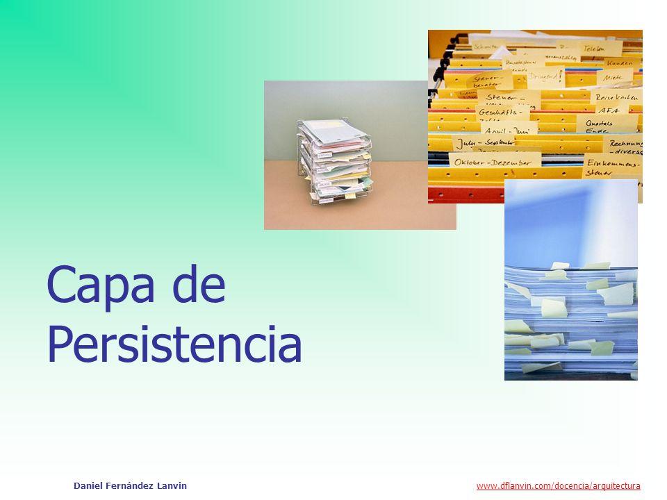 Capa de Persistencia Daniel Fernández Lanvin