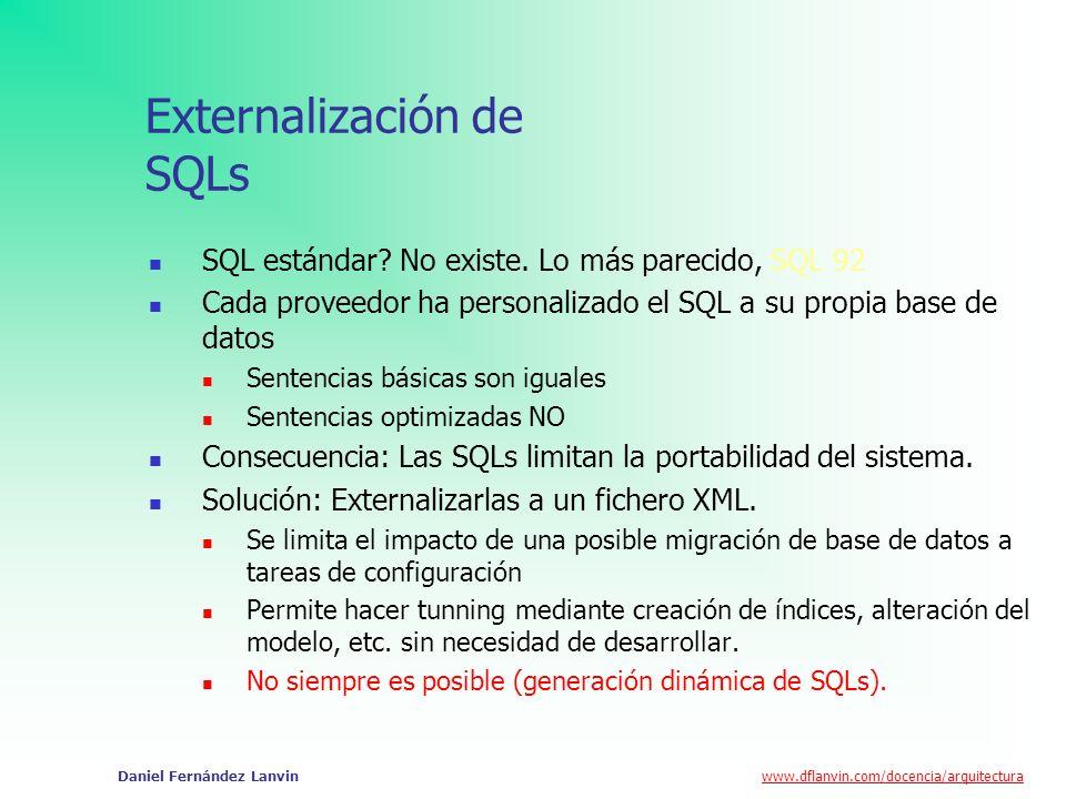 Externalización de SQLs