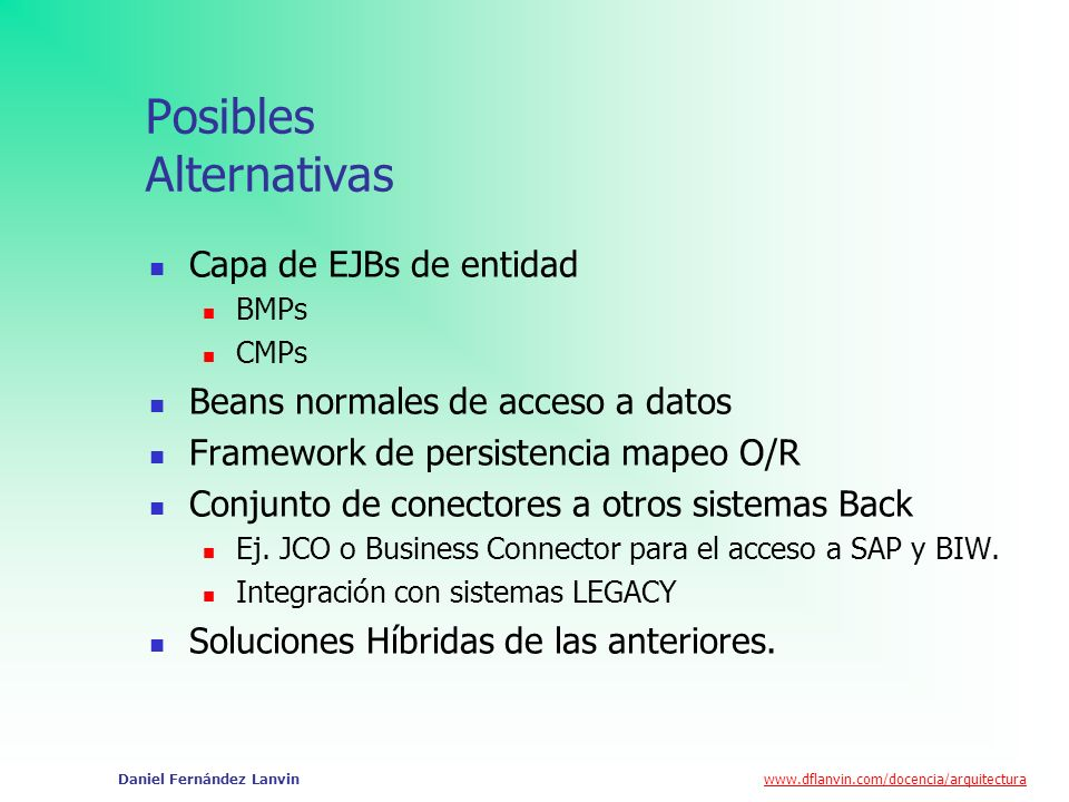 Posibles Alternativas