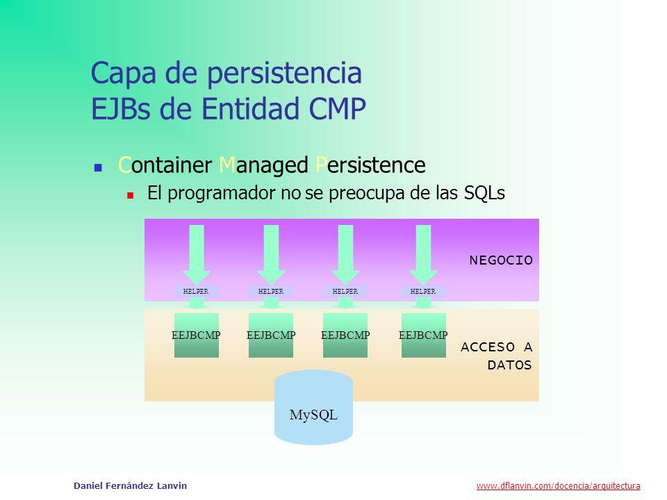 Capa de persistencia EJBs de Entidad CMP