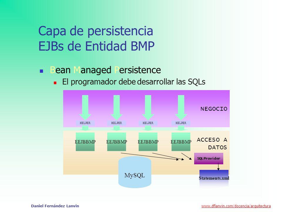 Capa de persistencia EJBs de Entidad BMP