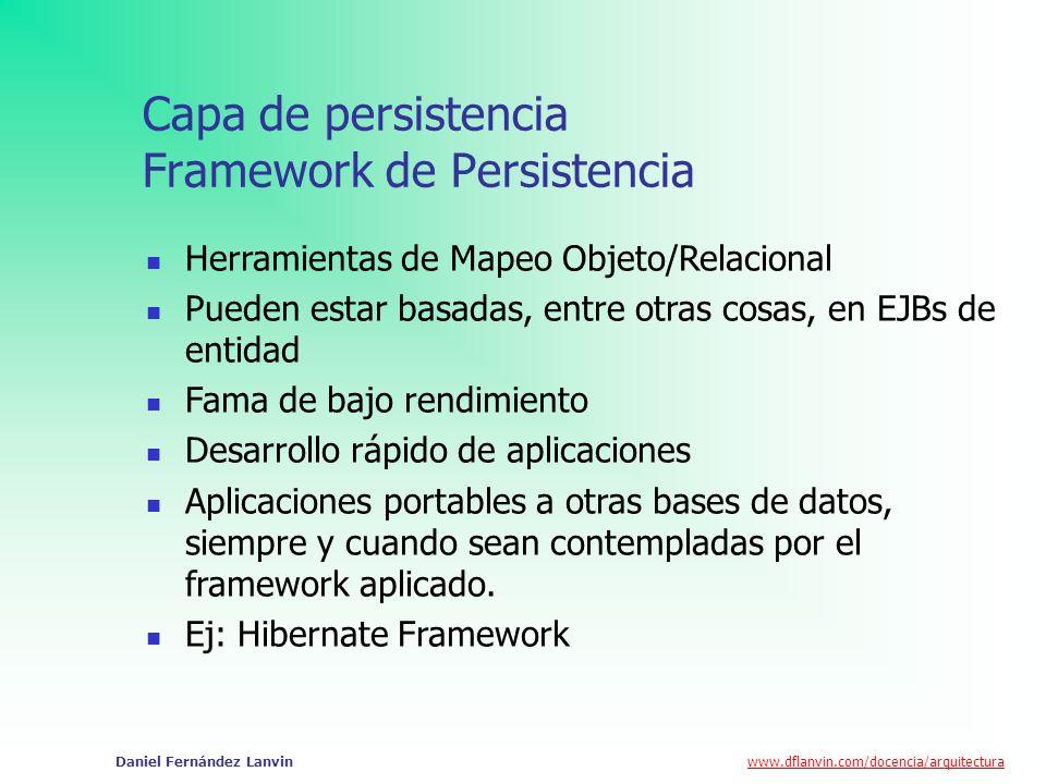 Capa de persistencia Framework de Persistencia