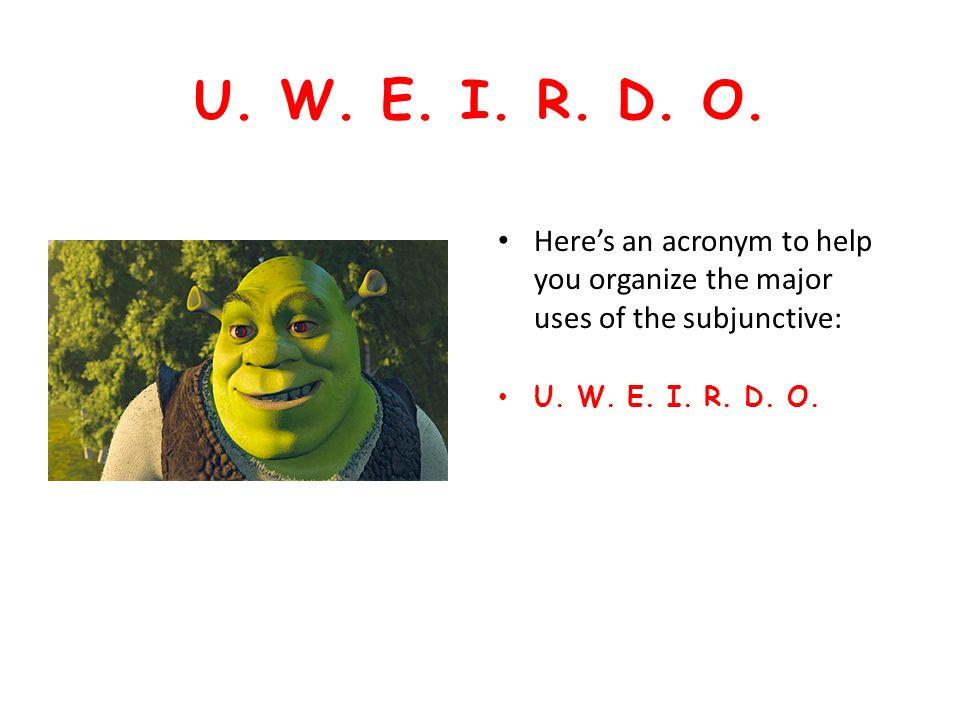 U. W. E. I. R. D. O.