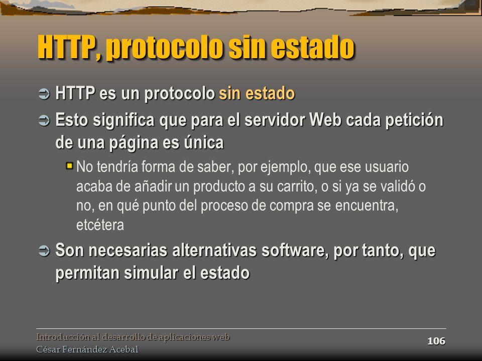 HTTP, protocolo sin estado