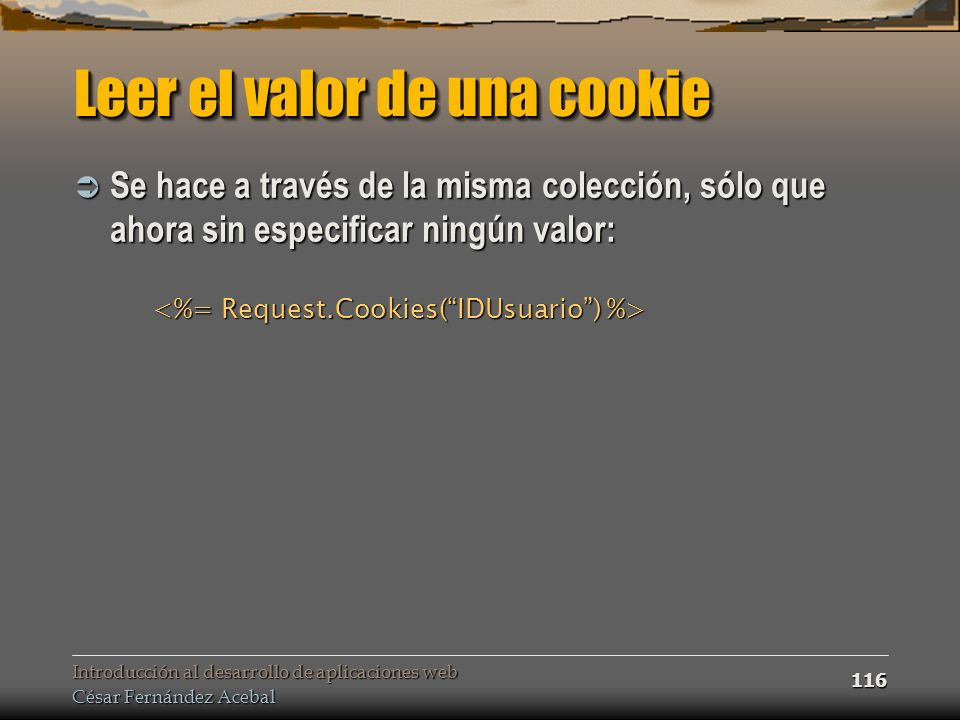 Leer el valor de una cookie