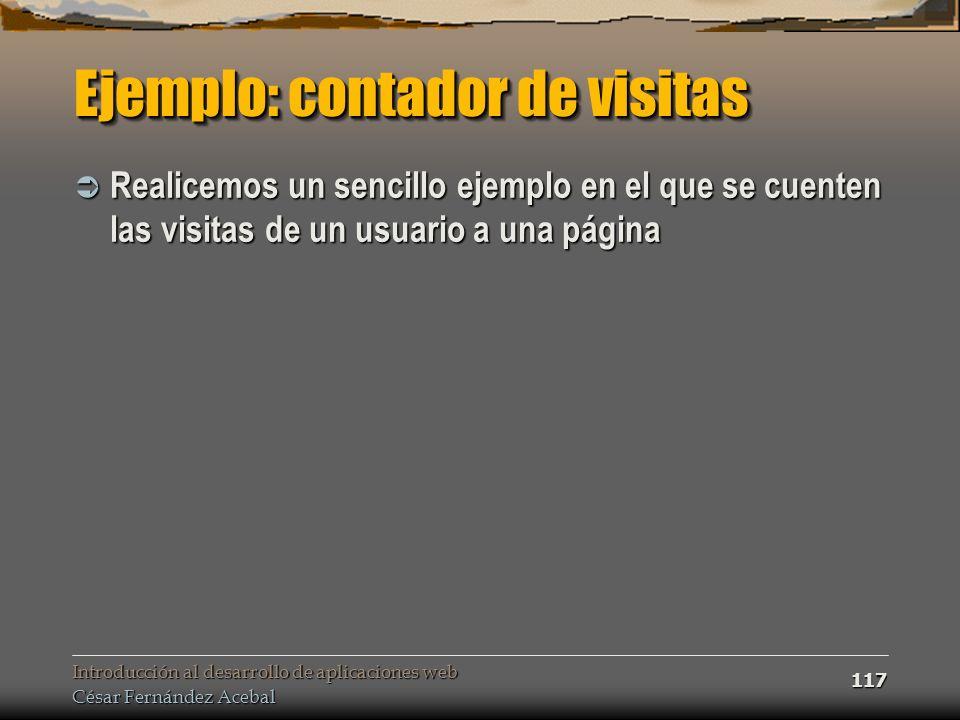 Ejemplo: contador de visitas