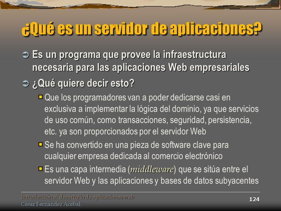 ¿Qué es un servidor de aplicaciones