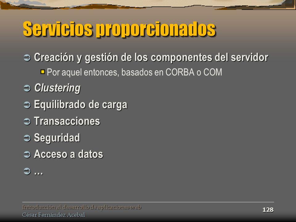 Servicios proporcionados