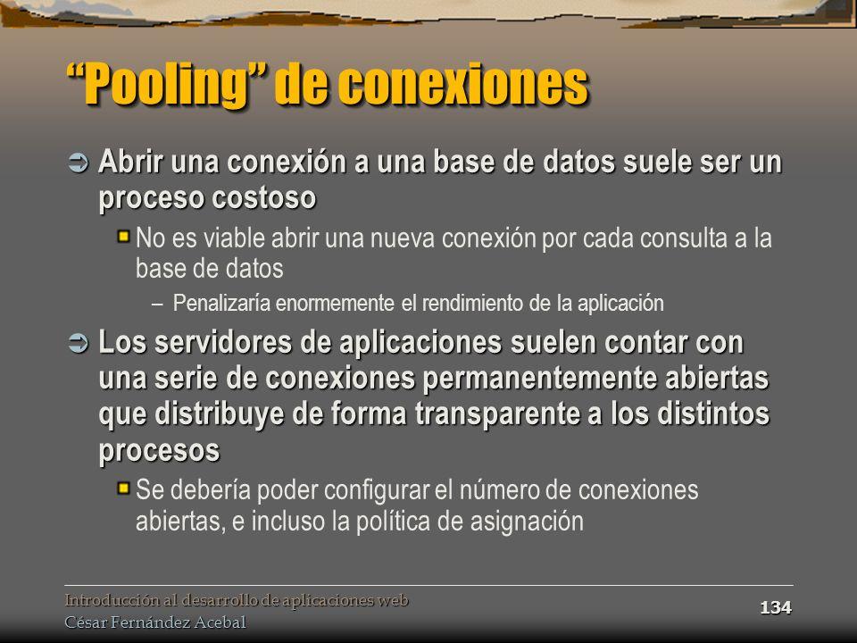 Pooling de conexiones
