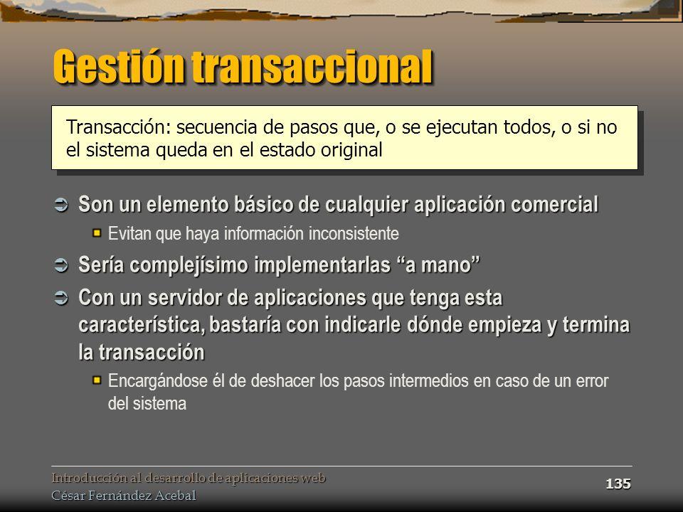 Gestión transaccional