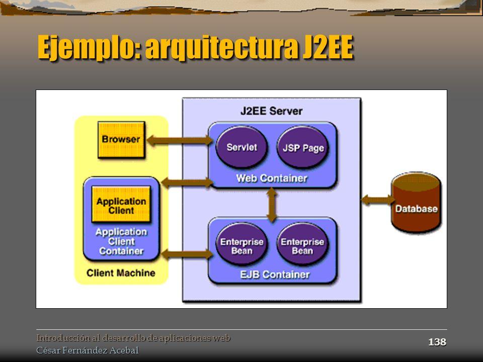 Ejemplo: arquitectura J2EE