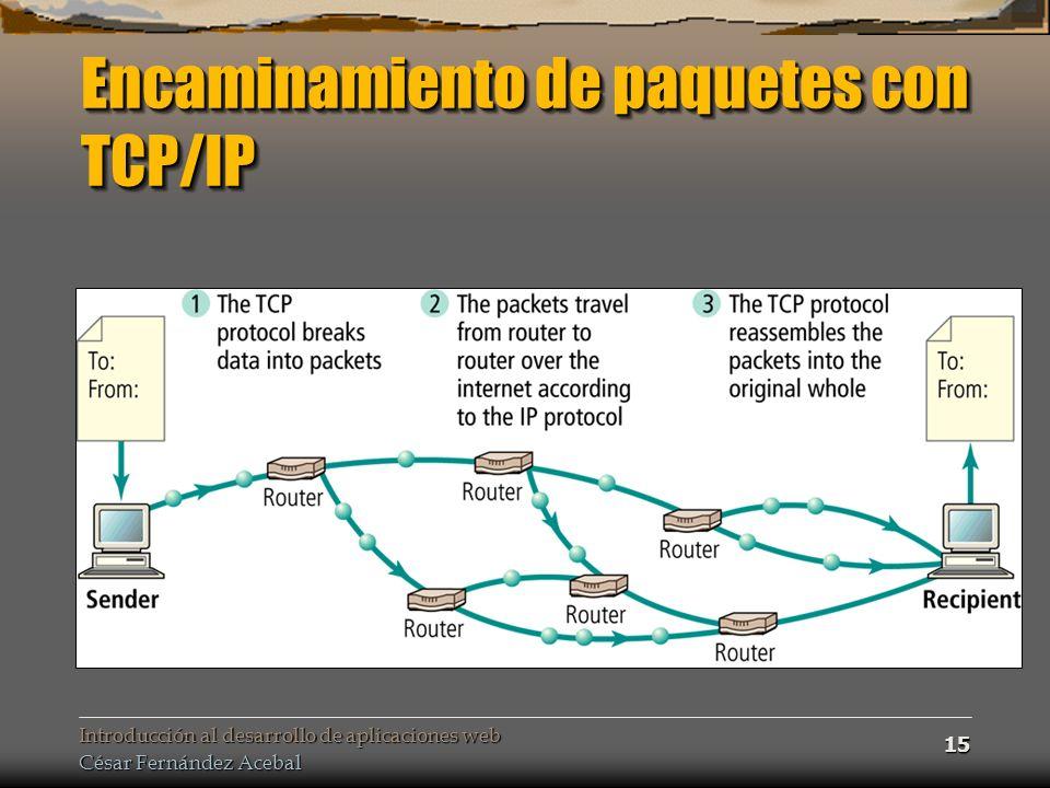 Encaminamiento de paquetes con TCP/IP