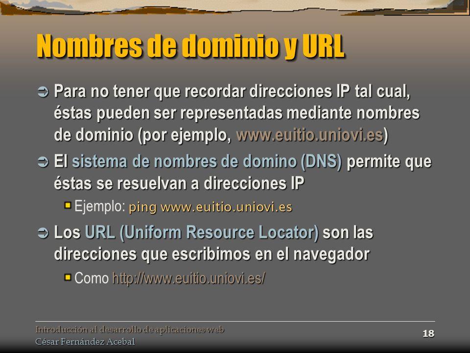 Nombres de dominio y URL