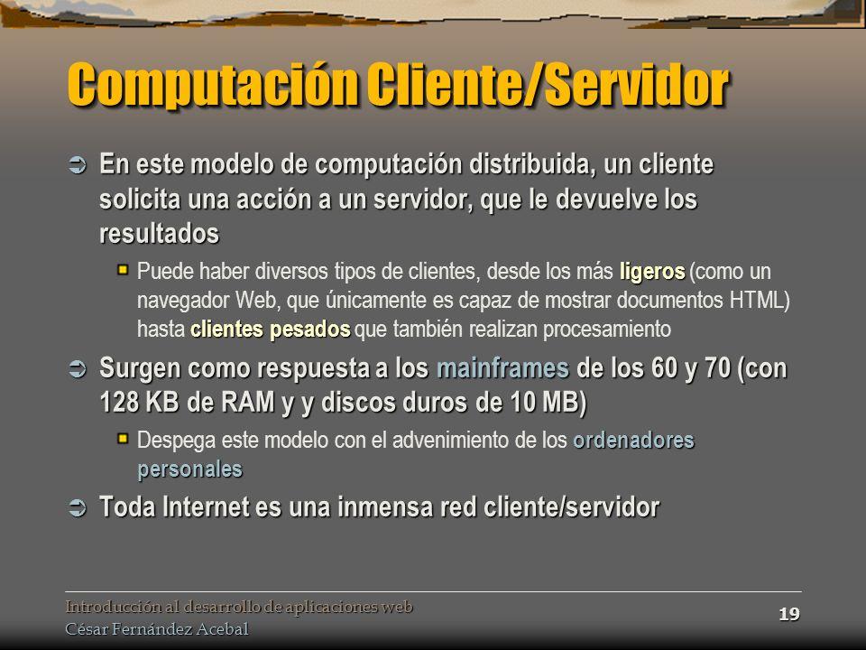 Computación Cliente/Servidor