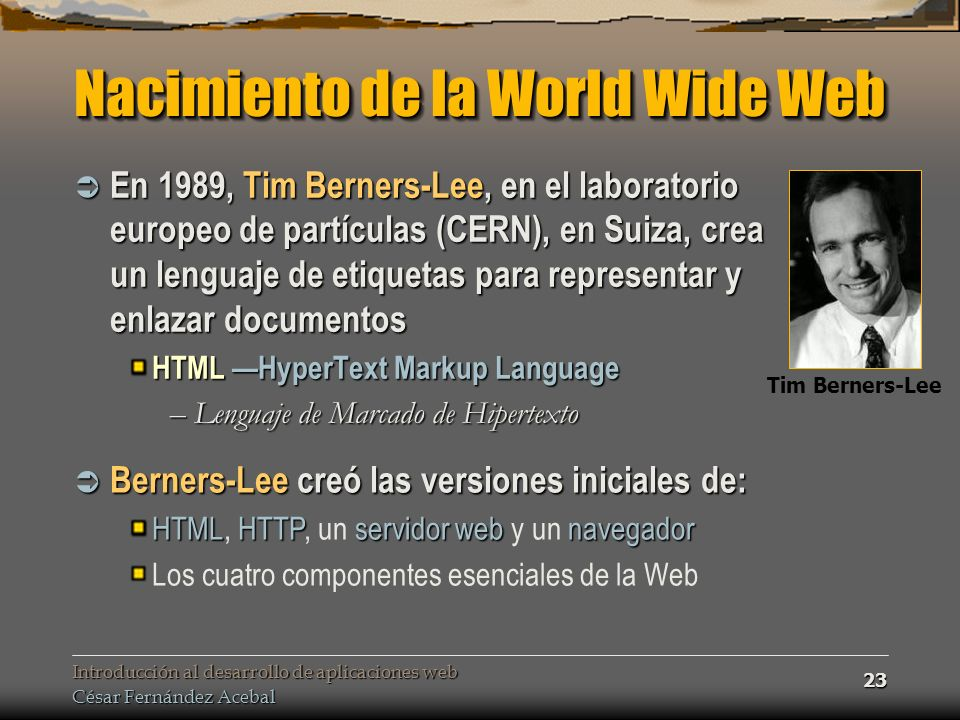 Nacimiento de la World Wide Web