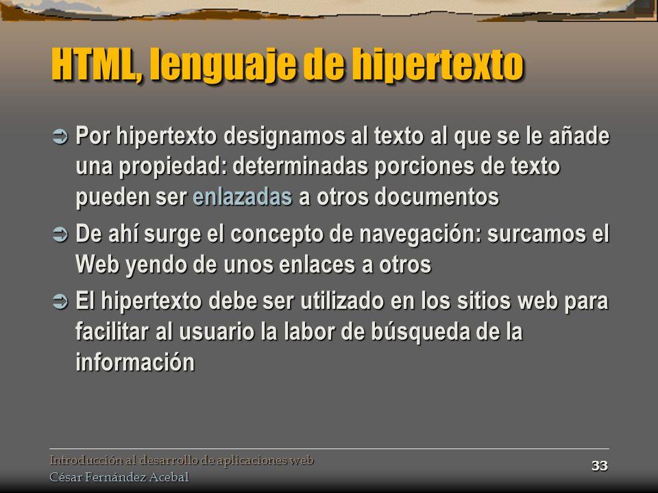 HTML, lenguaje de hipertexto
