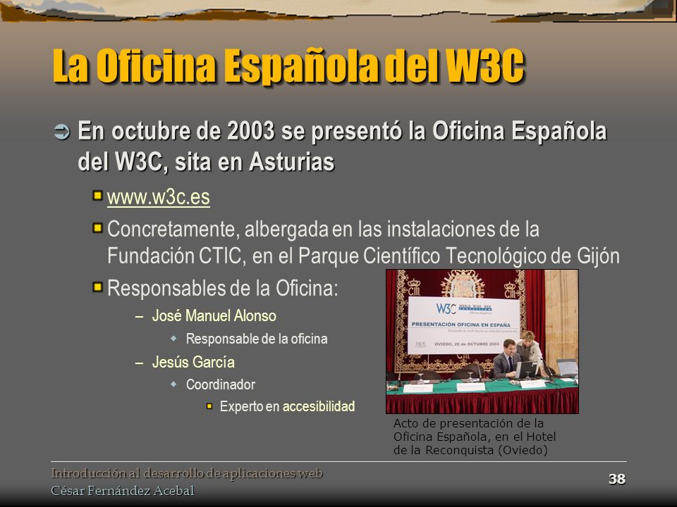 La Oficina Española del W3C