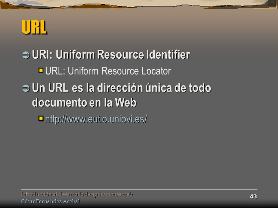 URL URI: Uniform Resource Identifier