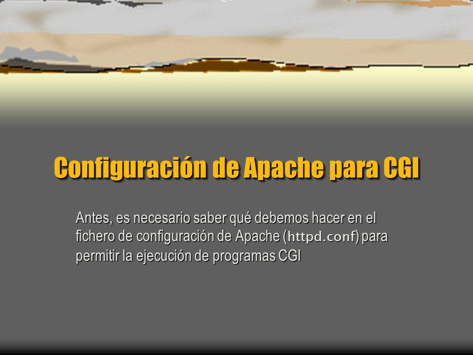 Configuración de Apache para CGI