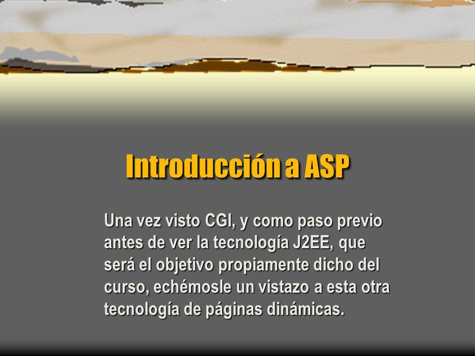 Introducción a ASP