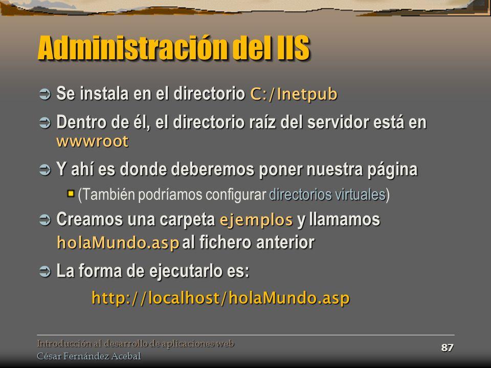 Administración del IIS