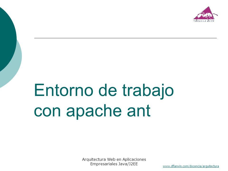 Entorno de trabajo con apache ant