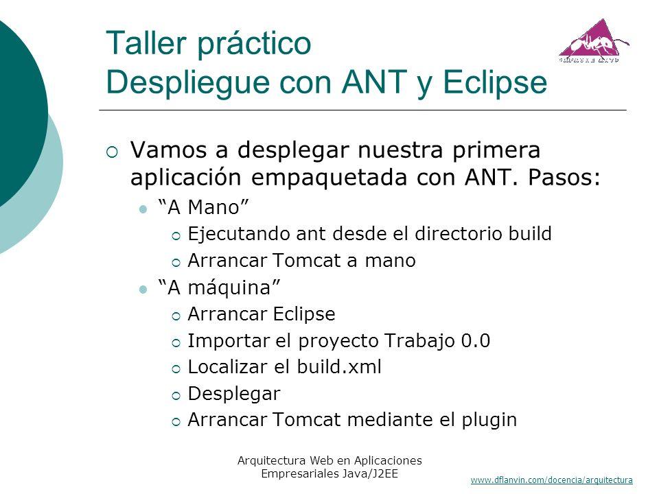 Taller práctico Despliegue con ANT y Eclipse