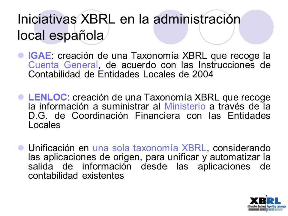Iniciativas XBRL en la administración local española