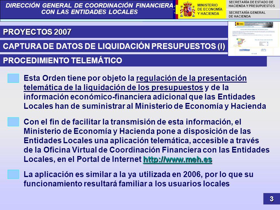 CAPTURA DE DATOS DE LIQUIDACIÓN PRESUPUESTOS (I)