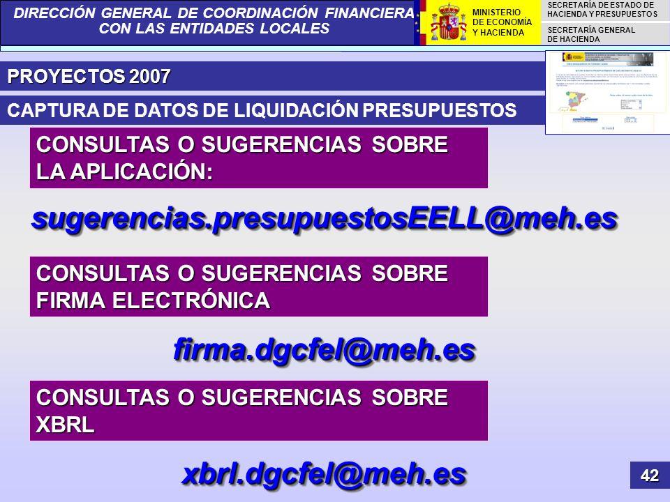 sugerencias.presupuestosEELL@meh.es firma.dgcfel@meh.es