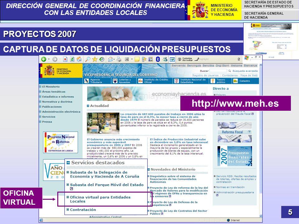 http://www.meh.es PROYECTOS 2007