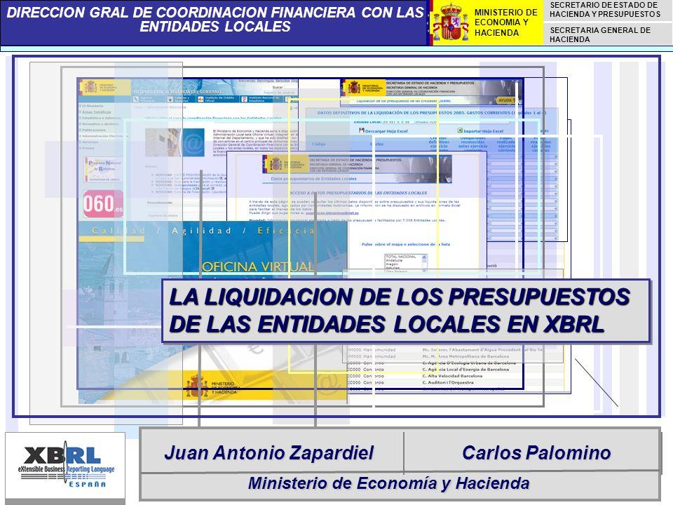 LA LIQUIDACION DE LOS PRESUPUESTOS DE LAS ENTIDADES LOCALES EN XBRL