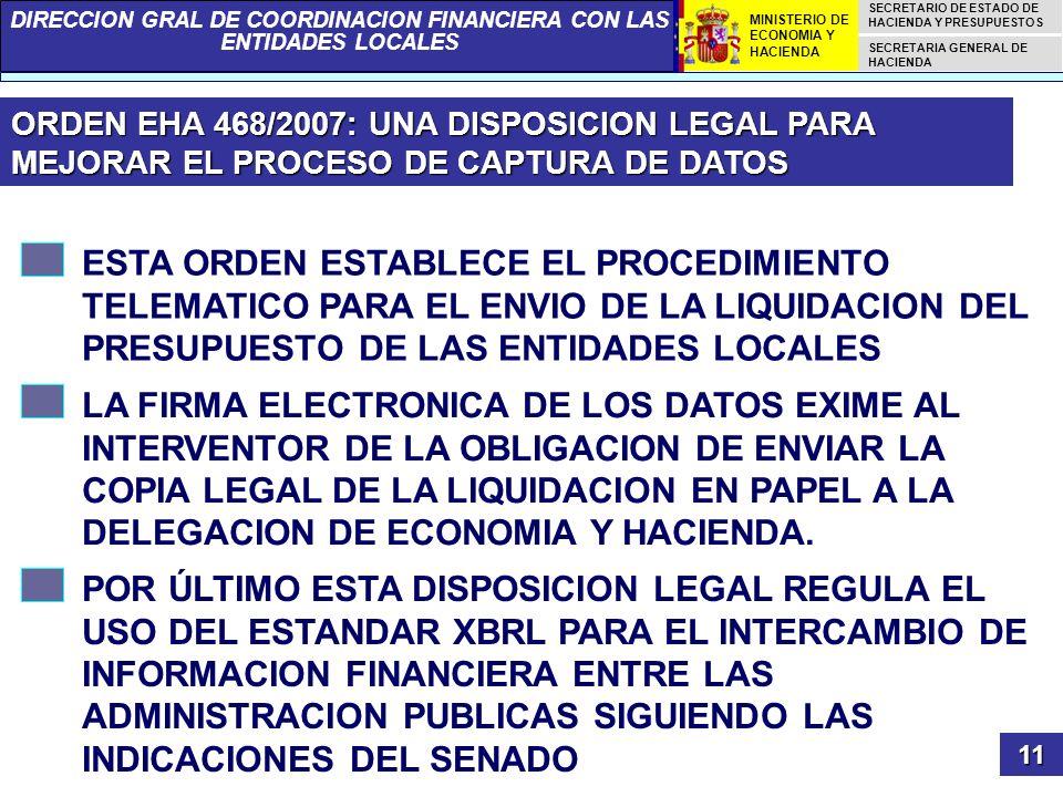 ORDEN EHA 468/2007: UNA DISPOSICION LEGAL PARA MEJORAR EL PROCESO DE CAPTURA DE DATOS