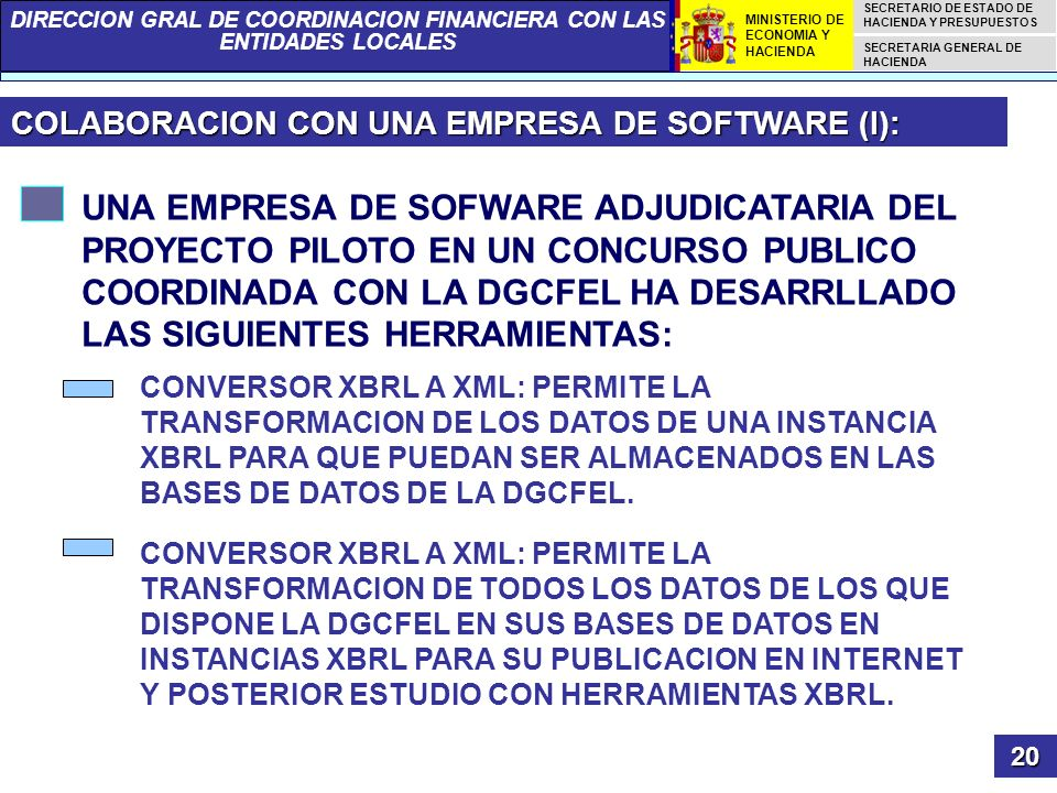 COLABORACION CON UNA EMPRESA DE SOFTWARE (I):