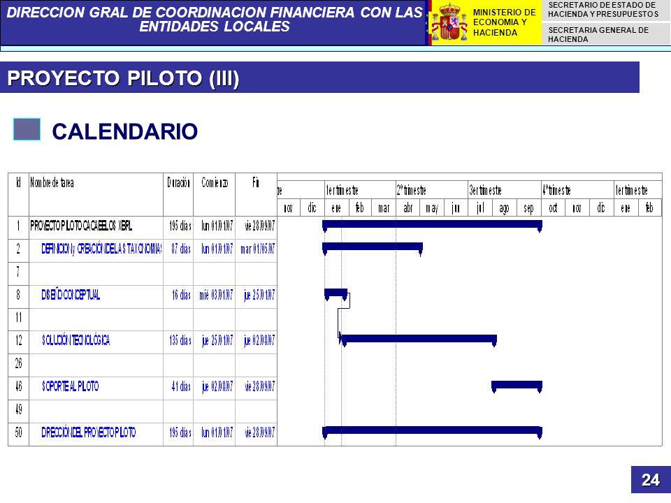PROYECTO PILOTO (III) CALENDARIO 24