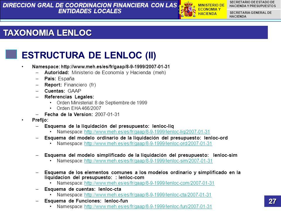 ESTRUCTURA DE LENLOC (II)