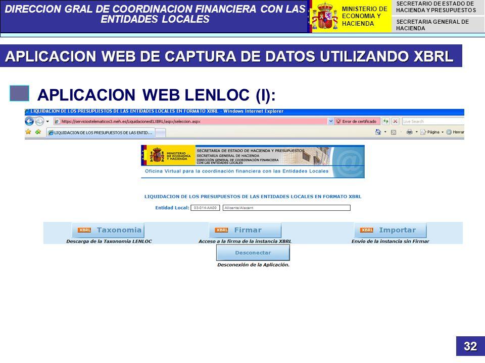 APLICACION WEB LENLOC (I):