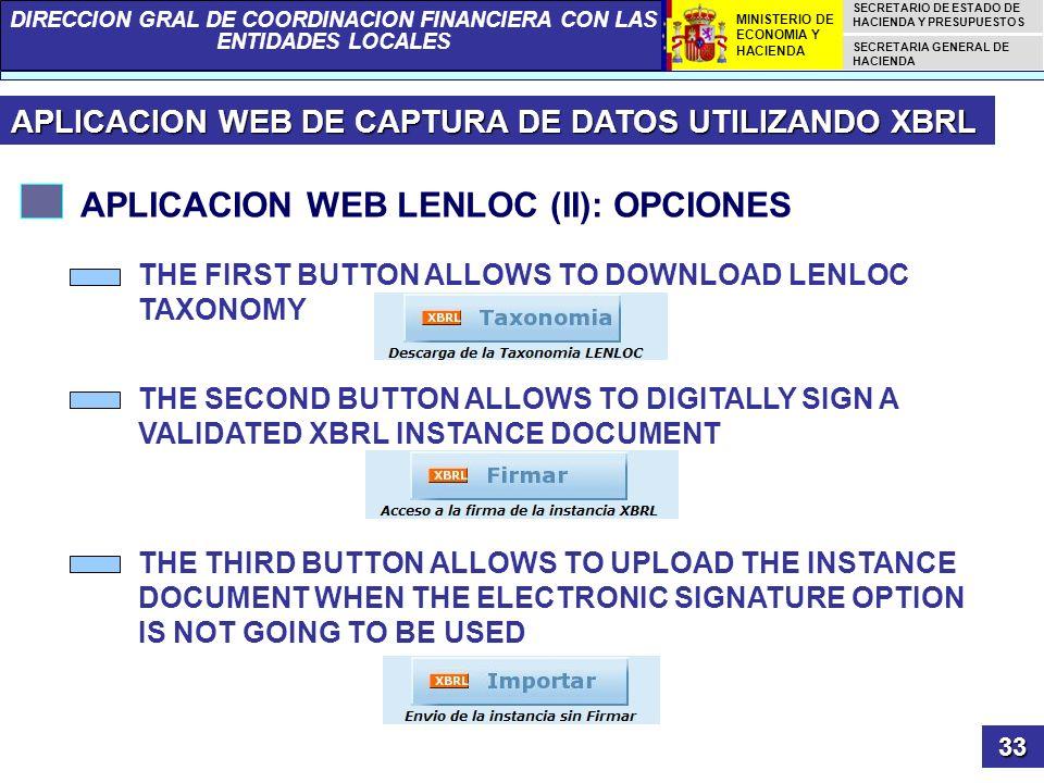 APLICACION WEB LENLOC (II): OPCIONES
