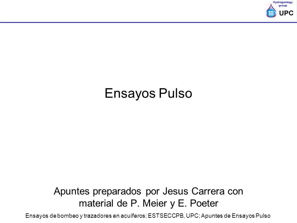 Ensayos Pulso Apuntes preparados por Jesus Carrera con material de P. Meier y E. Poeter.
