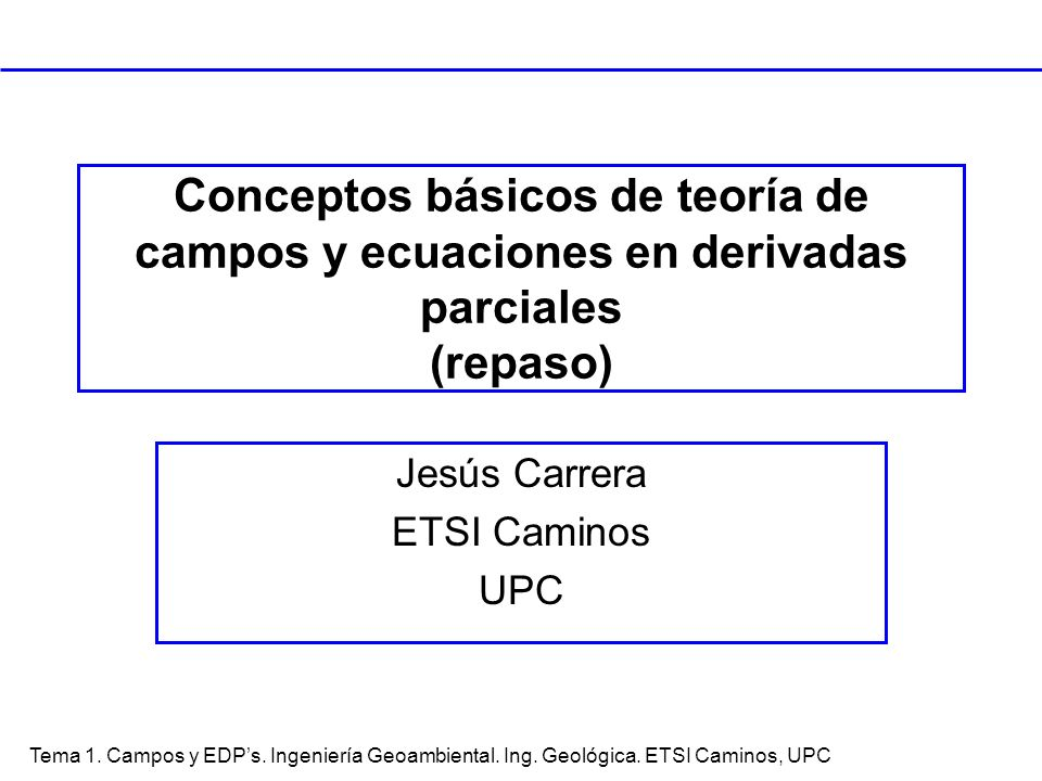 Jesús Carrera ETSI Caminos UPC