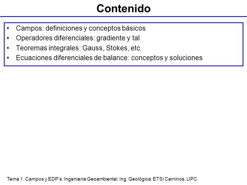 Contenido Campos: definiciones y conceptos básicos