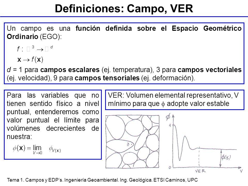 Definiciones: Campo, VER