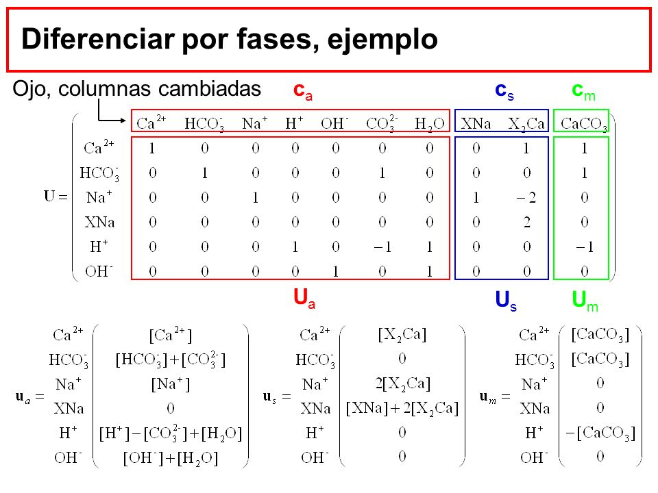 Diferenciar por fases, ejemplo