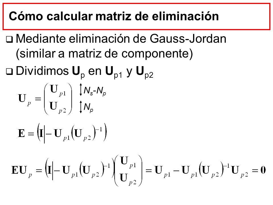 Cómo calcular matriz de eliminación